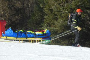 Barquette accident de ski